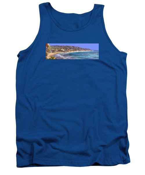 Laguna Beach Coast Panoramic Tank Top by Jim Carrell