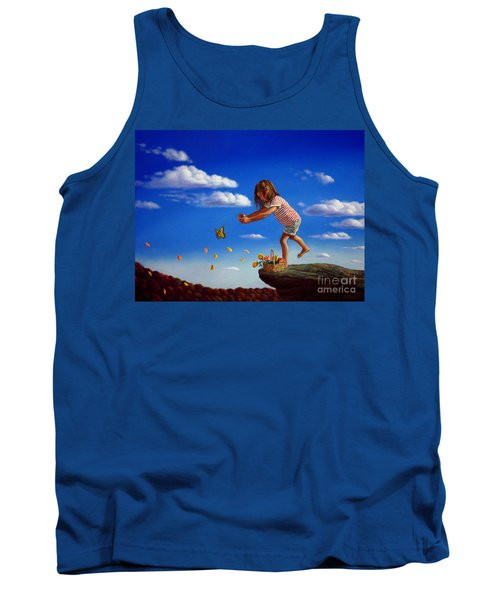 Tank Top featuring the painting Letting It Go by Christopher Shellhammer