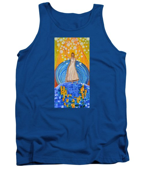Tank Top featuring the painting Lifting The Veil by Cassie Sears
