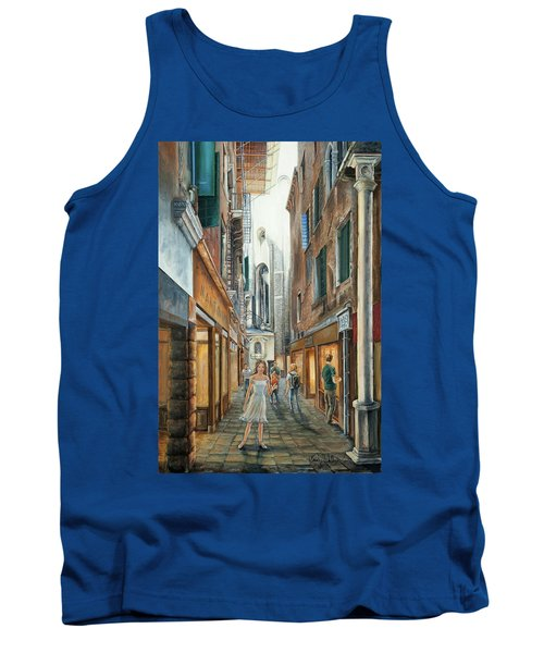 Light From San Salvador Merceria Del Capitello San Marco Venezia Tank Top
