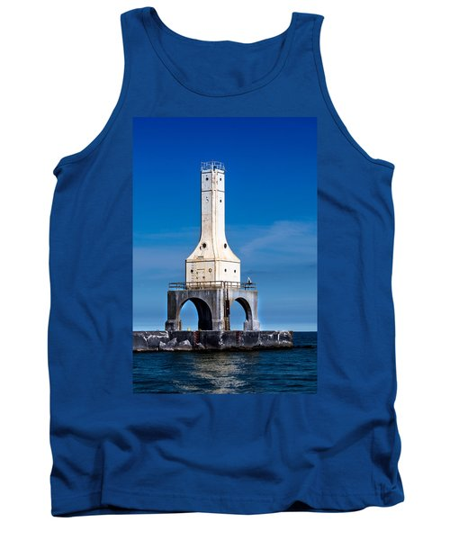 Lighthouse Blues Vertical Tank Top