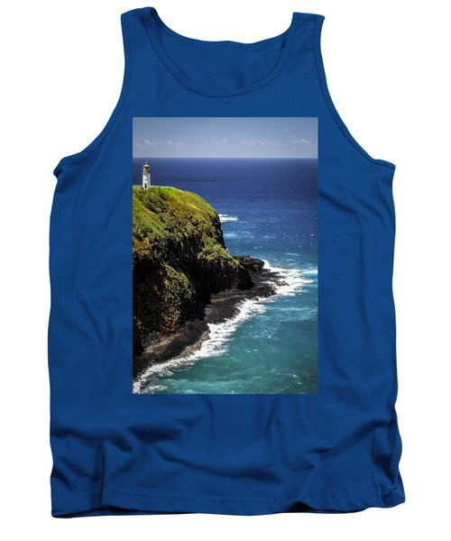 Tank Top featuring the photograph Lighthouse By The Pacific by Debbie Karnes