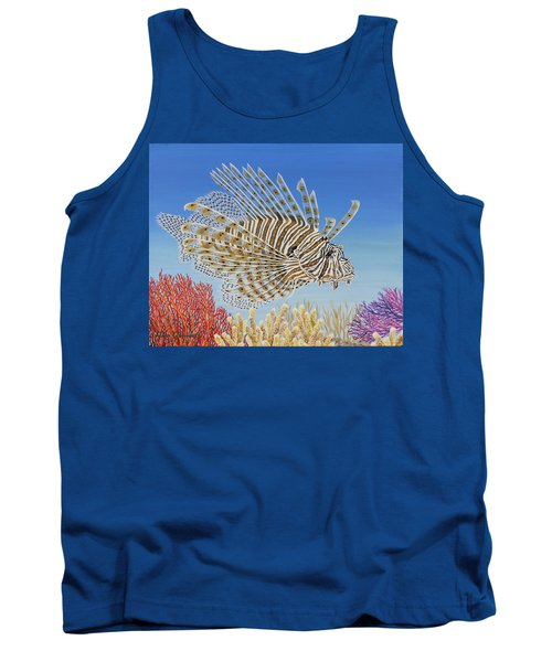 Lionfish And Coral Tank Top by Jane Girardot