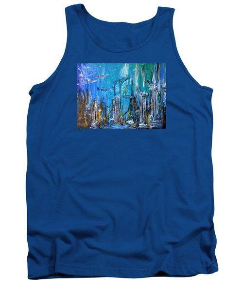 Tank Top featuring the painting Lost City by Arturas Slapsys