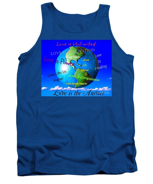 Tank Top featuring the digital art Love Is. . . . by Bobbee Rickard