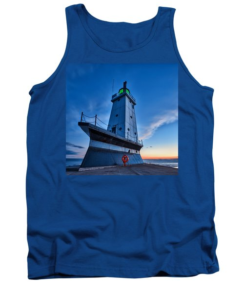 Tank Top featuring the photograph Ludington Lighthouse by Sebastian Musial