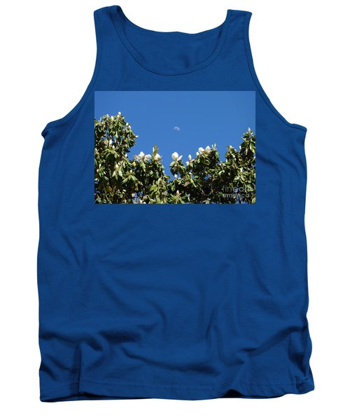 Tank Top featuring the photograph Magnolia Moon by Meghan at FireBonnet Art