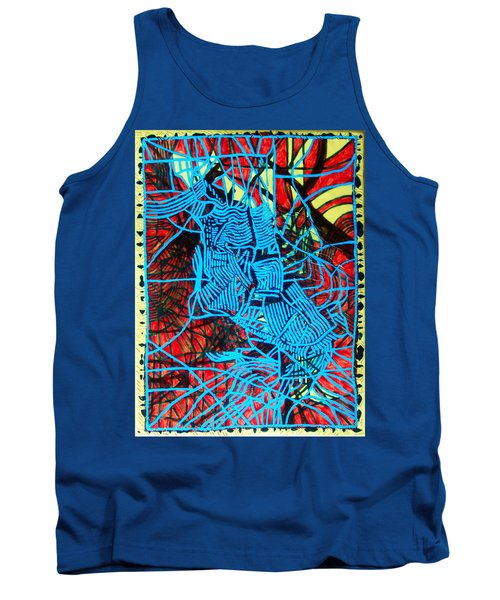 Maiden In Blue - Mary In The Temple Tank Top