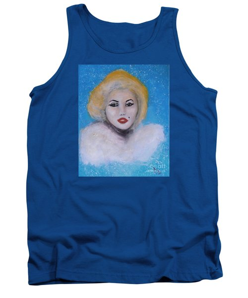 Marilyn Monroe Out Of The Blue Into The White Tank Top