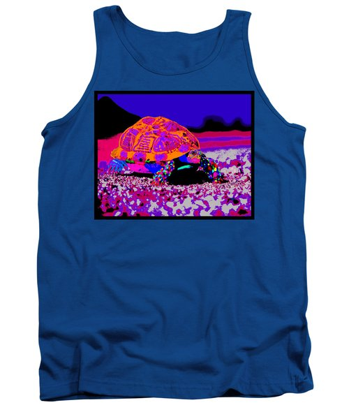 Marine Corporals Turtle In Peace Paint V3 Tank Top