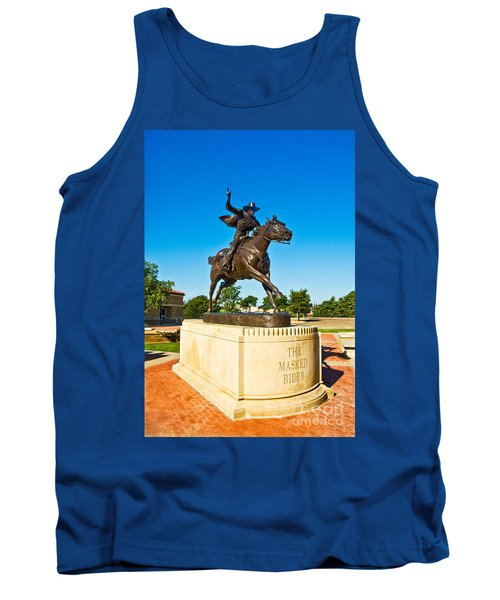 Tank Top featuring the photograph Masked Rider Statue by Mae Wertz