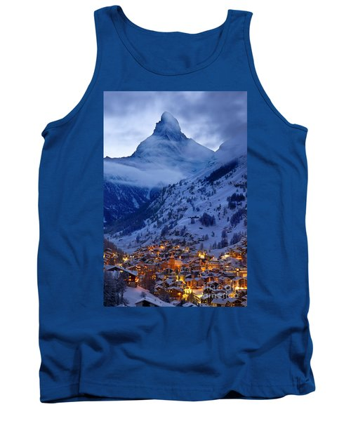 Matterhorn At Twilight Tank Top by Brian Jannsen
