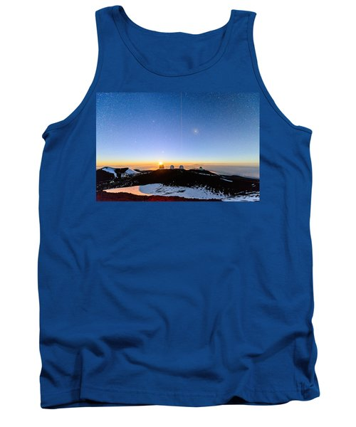 Mauna Kea Moonset 1 Tank Top