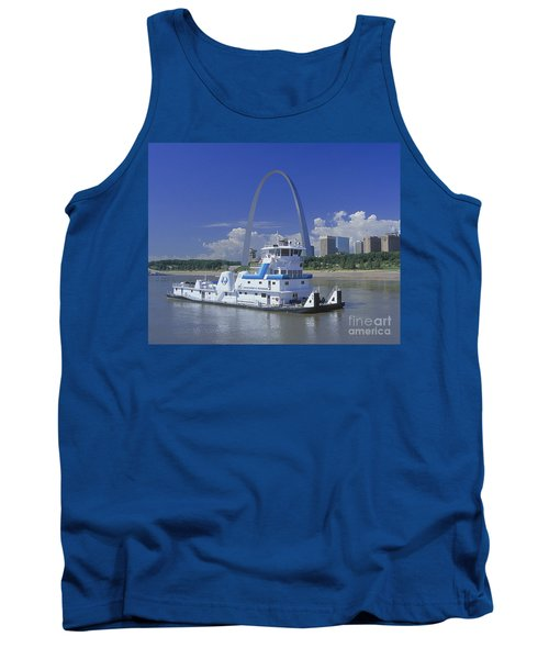 Memco Towboat In St Louis Tank Top by Garry McMichael