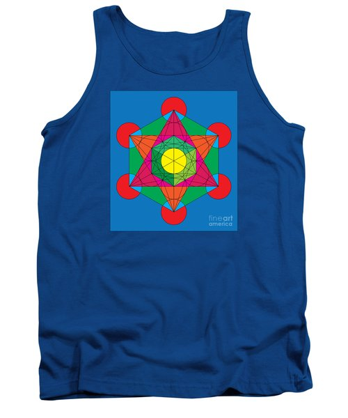 Metatron's Cube In Colors Tank Top