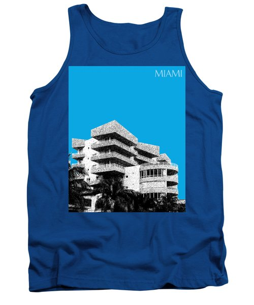 Miami Skyline Art Deco District - Ice Blue Tank Top