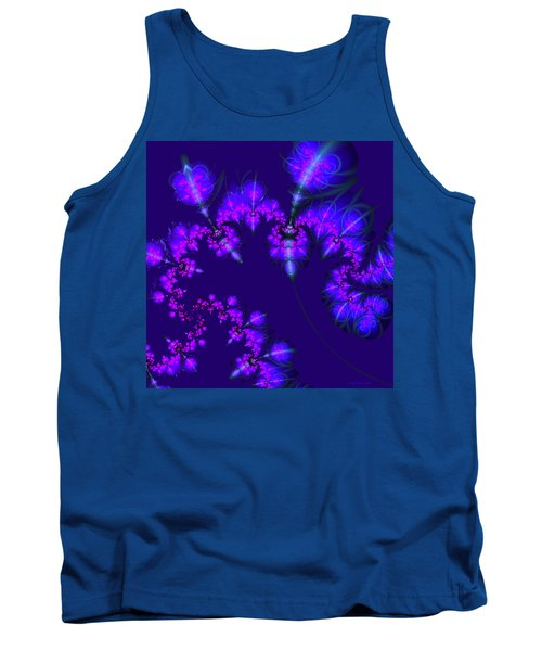 Tank Top featuring the digital art Midnight Blossoms by Judi Suni Hall