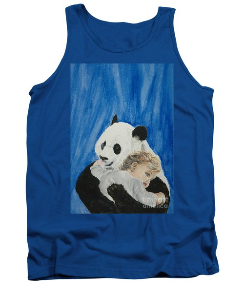 Mika And Panda Tank Top by Tamir Barkan