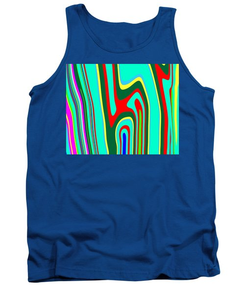 Tank Top featuring the painting Mod Stripes  C2014 by Paul Ashby