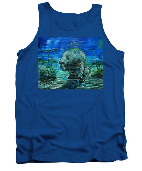 Momma Manatee Tank Top