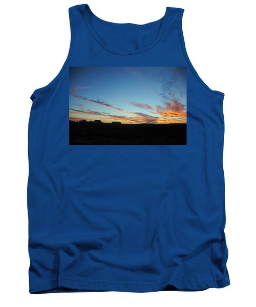 Tank Top featuring the photograph Monument Valley Sunset 2 by Jeff Brunton