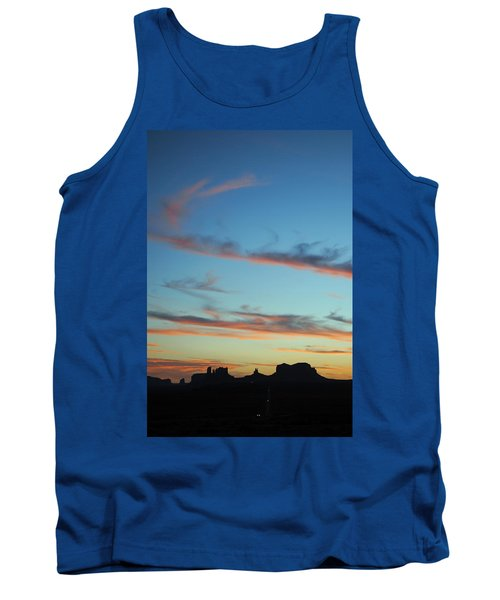 Tank Top featuring the photograph Monument Valley Sunset 3 by Jeff Brunton
