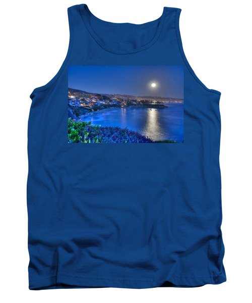 Moon Over Crescent Bay Beach Tank Top