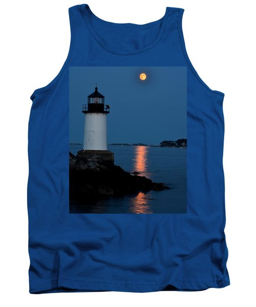 Moon Over Winter Island Salem Ma Tank Top