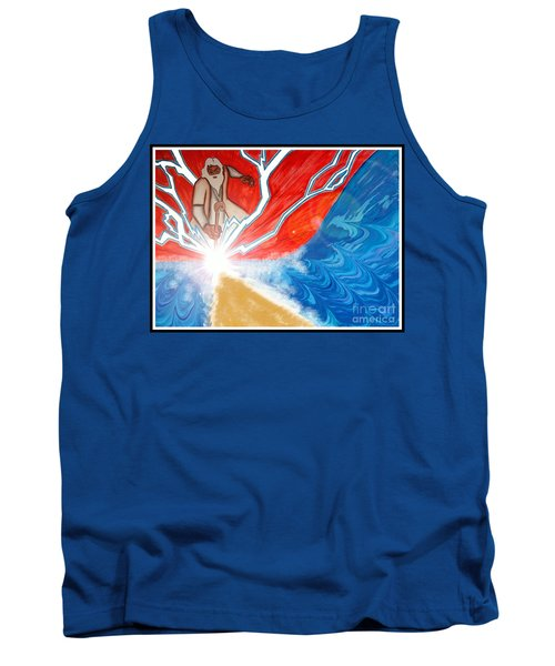Tank Top featuring the painting Moses by Justin Moore