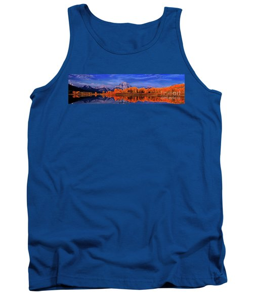 Mount Moran And Fall Color Grand Tetons Tank Top