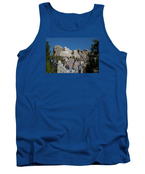 Mount Rushmore Avenue Of Flags Tank Top
