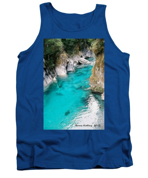 Tank Top featuring the painting Mountain Pool by Bruce Nutting