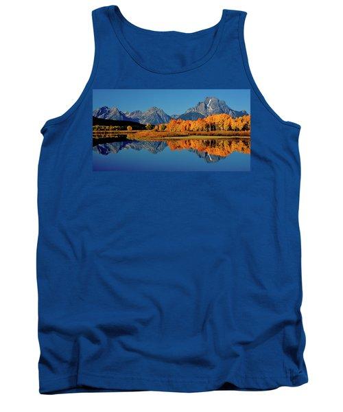 Mt. Moran Reflection Tank Top by Ed  Riche