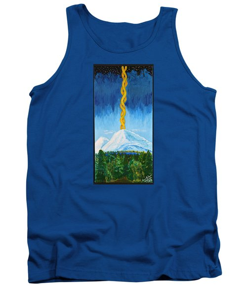 Tank Top featuring the painting Mt. Shasta by Cassie Sears