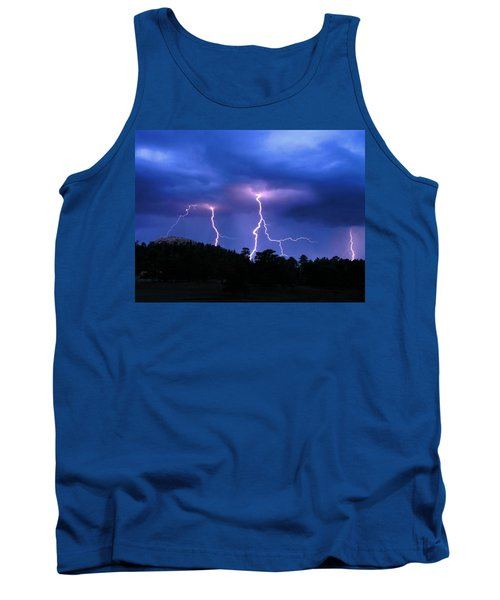 Multi Arc Lightning Strike Tank Top