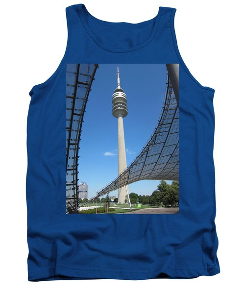 Tank Top featuring the photograph Munich Olympic Tower by Pema Hou
