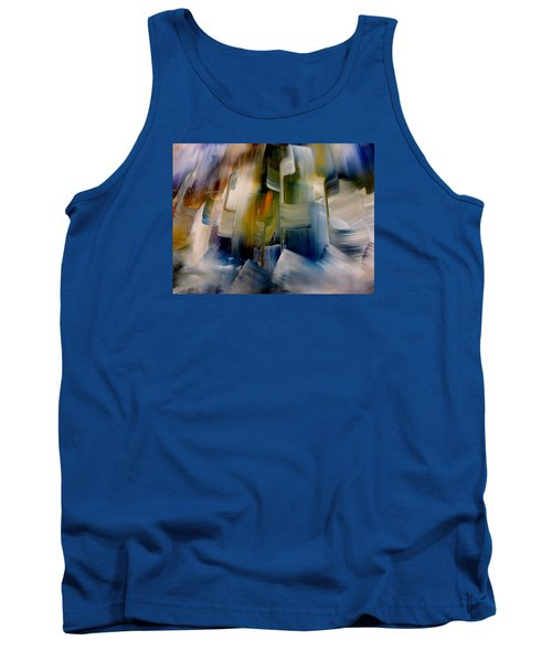 Tank Top featuring the painting Music With Paint by Lisa Kaiser