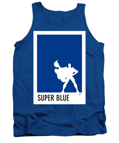 My Superhero 03 Super Blue Minimal Poster Tank Top