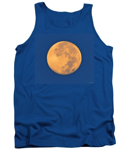 Tank Top featuring the photograph Navarre Beach Full Moon At Sunrise by Jeff at JSJ Photography