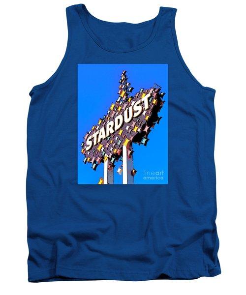 Original Stardust Casino Neon In Las Vegas Pop Art Tank Top