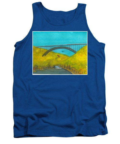 New River Gorge Bridge On Bridge Day Tank Top
