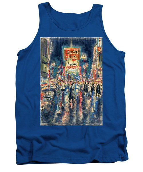 New York Times Square 79 - Watercolor Art Painting Tank Top