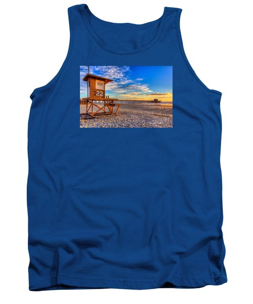 Newport Beach Pier - Wintertime  Tank Top