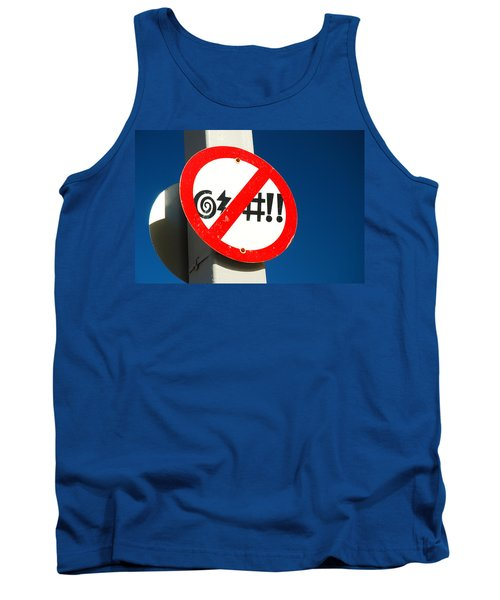 Tank Top featuring the photograph No Cursing Here by James Kirkikis