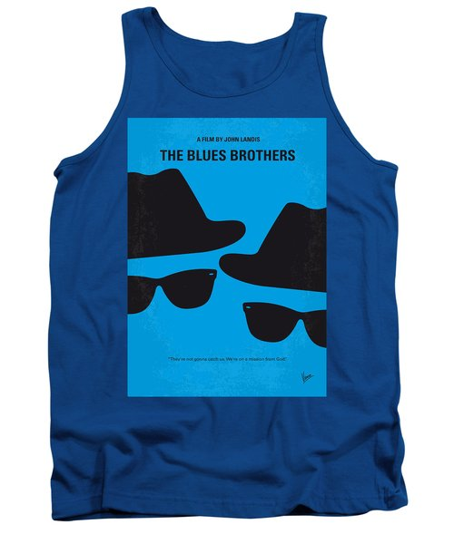 No012 My Blues Brother Minimal Movie Poster Tank Top by Chungkong Art