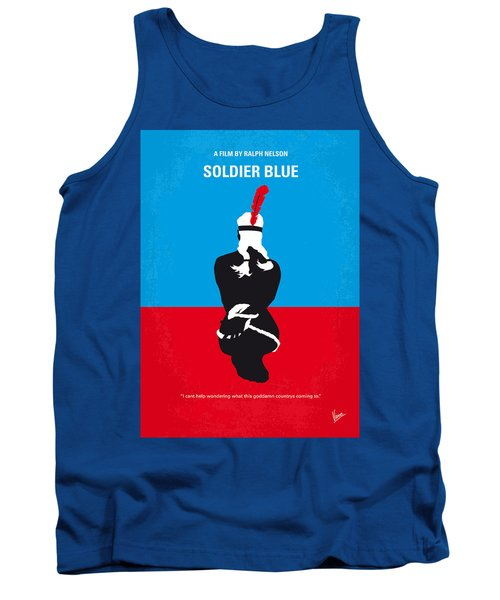 No136 My Soldier Blue Minimal Movie Poster Tank Top