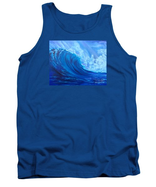 Tank Top featuring the painting Wave V1 by Jenny Lee