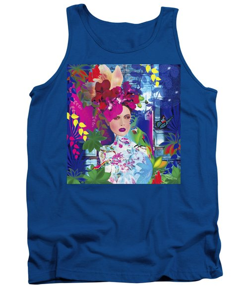 Not Always So Blue - Limited Edition 2 Of 20 Tank Top by Gabriela Delgado