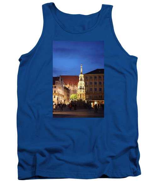Tank Top featuring the photograph Nuernberg At Night by Heidi Poulin