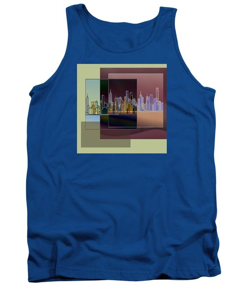 Tank Top featuring the digital art Nyc Abstract-3 by Nina Bradica